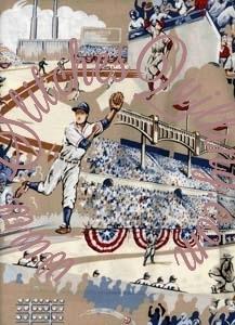 Great Seventh Inning Baseball Fabric Alexander Henry