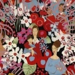Mother's Day GIFT! Alexander Henry Mother's Day Fabric designed by Nicole de Leon. Bright Fabric with Mothers.