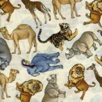 JUNGLE SHAMASH SONS ZOO FABRIC 4029