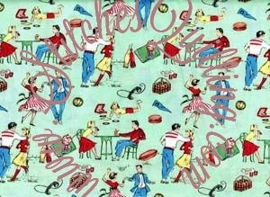1950 happy days quilt fabric
