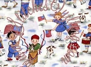 patriotic children quilt fabric