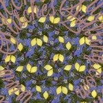 Yellow Lemons Blue Fabric Dan Morris Timeless Treasure C5050