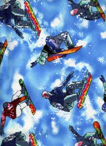 Flannel Sport Snowboard Timeless Treasures Fabric CF 7240