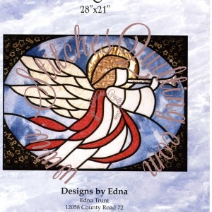 Pt Stained Glass Angel