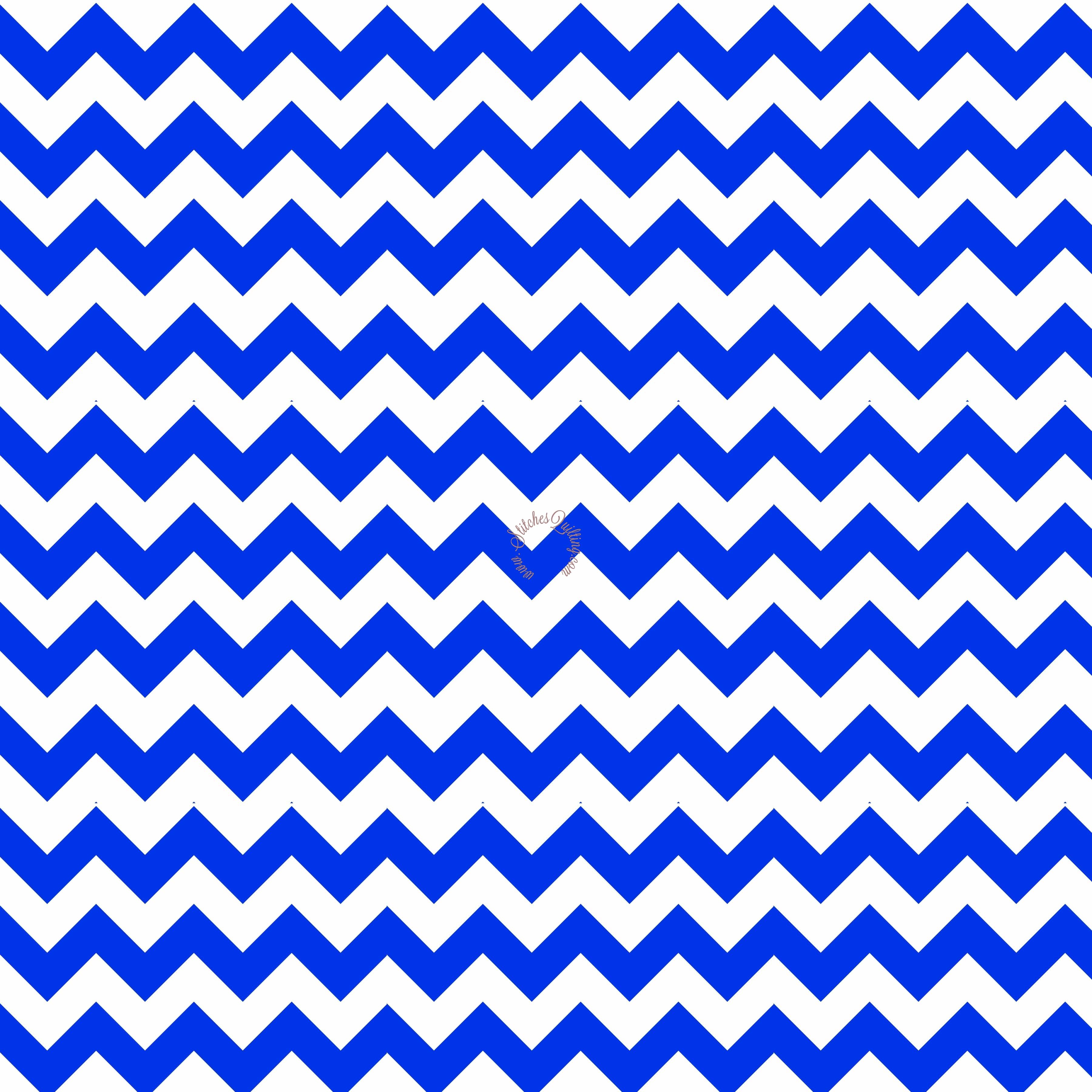 Royal Blue Small Chevron Fabric Riley Blake CC340-27 • Stitches ...