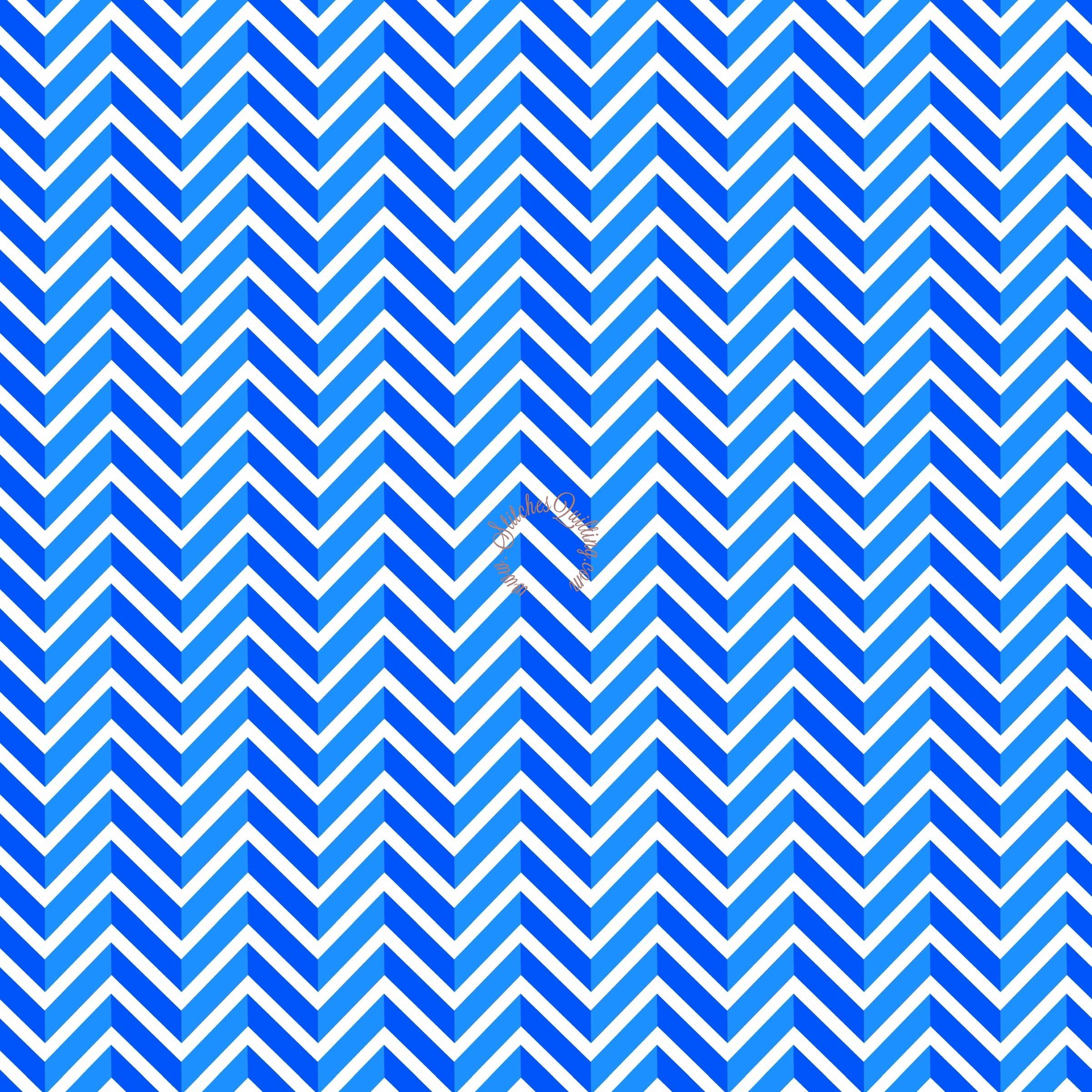 Blue Stripes Chevron Fabric Star Spangled Doodlebug Riley