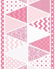 Hot Pink Banner Sparkle PSC 570 Riley Blake Fabric