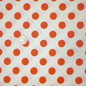 LeCreme Medium Dot Orange Riley Blake Fabric C620