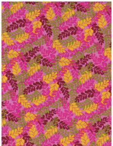 Bright Leaf Sprig Fabric Kensington Studio for Quilting Treasures LA-MOD 1649 21221
