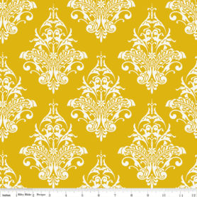 Yellow Damask Remember Riley Blake Fabric 3211
