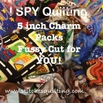 I SPY CHARM PACK QUILTING