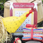 Farm Girl Vintage Book By Lori Holt with Custom Selected 18 Fat Quarter Bundle