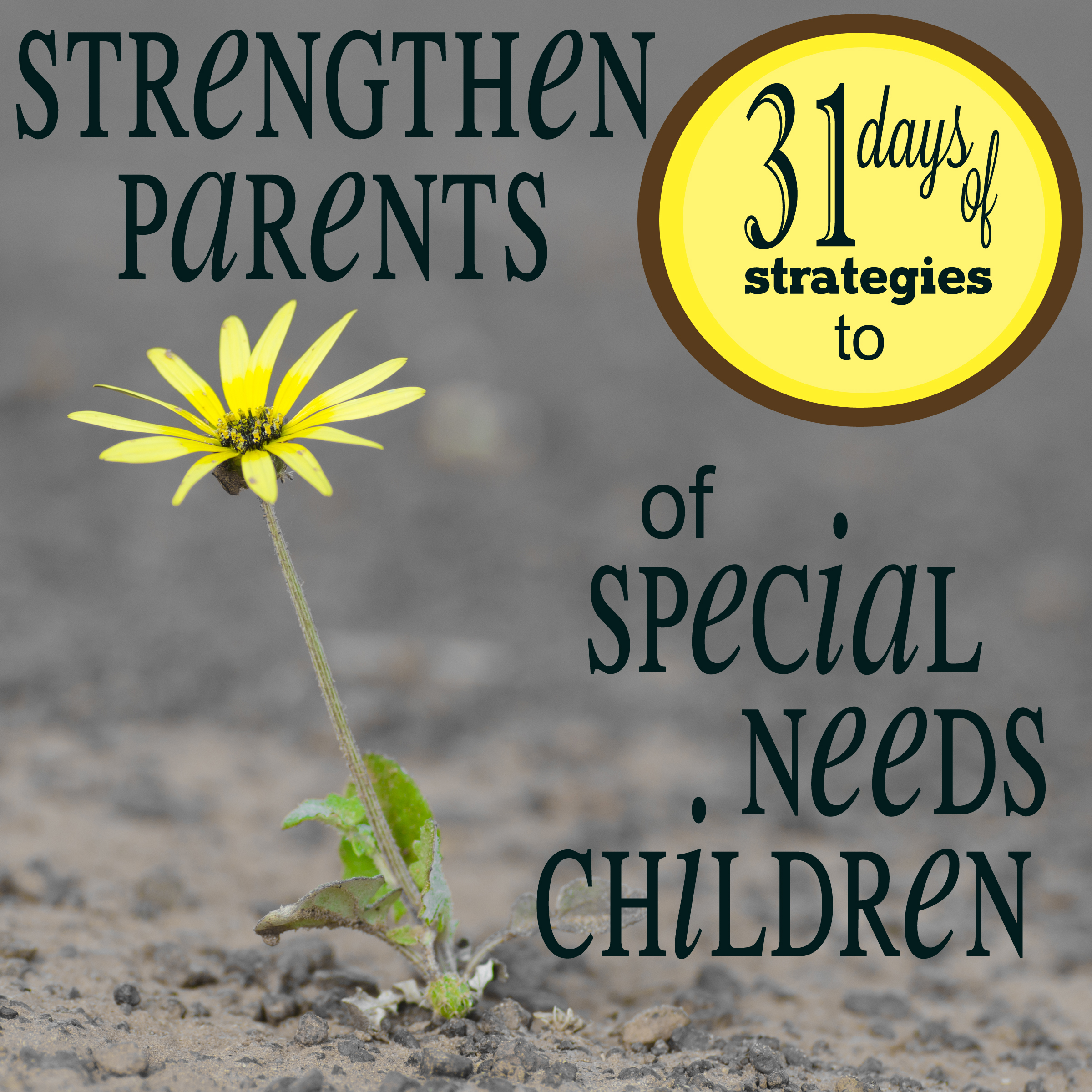 Strategies to Strengthen Parents of Special Needs Parents to do More than J