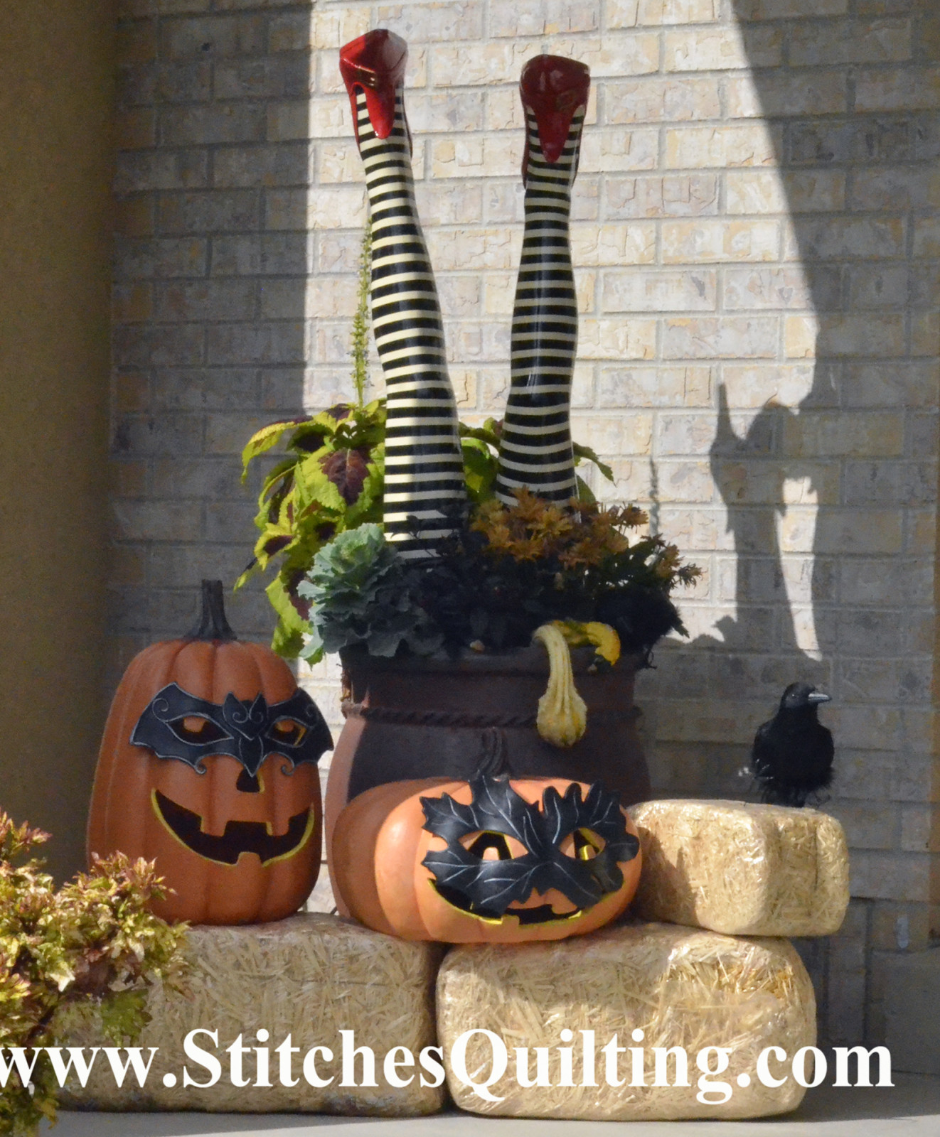 Here are some great ideas for outdoor FUN! What could be more fun than a witch's legs upside down?