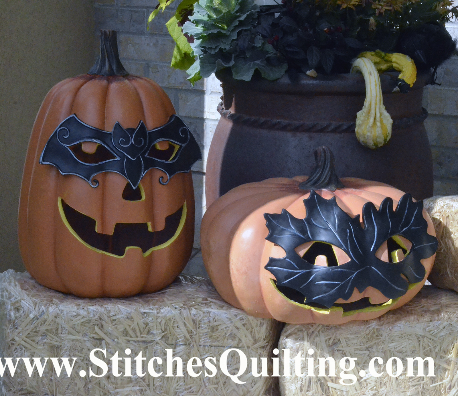 These pumpkins are ready for a masquerade!