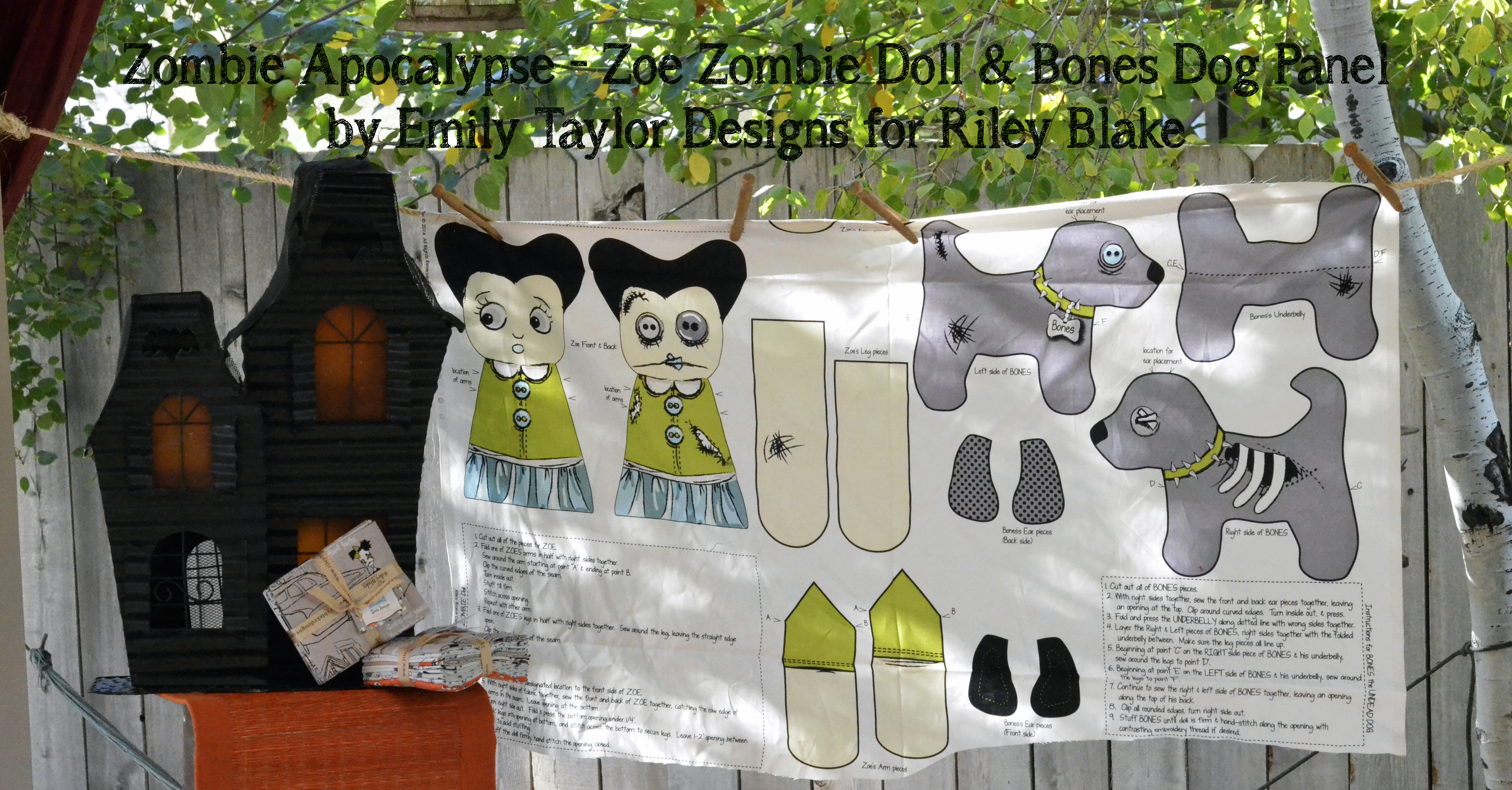 Zombie Apolcalypse Zoe Zombie Doll Bones Dog Panel