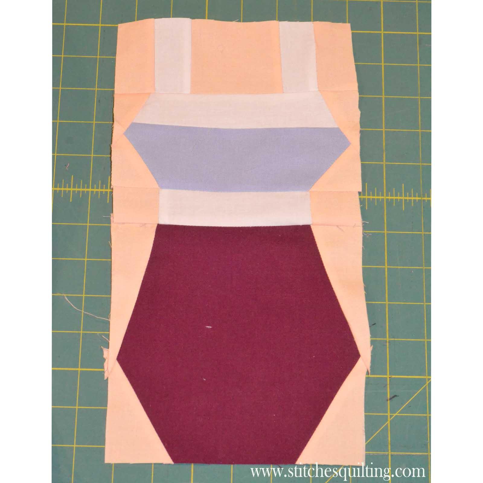 Vintage Womans Swimming Suit Quilt Block