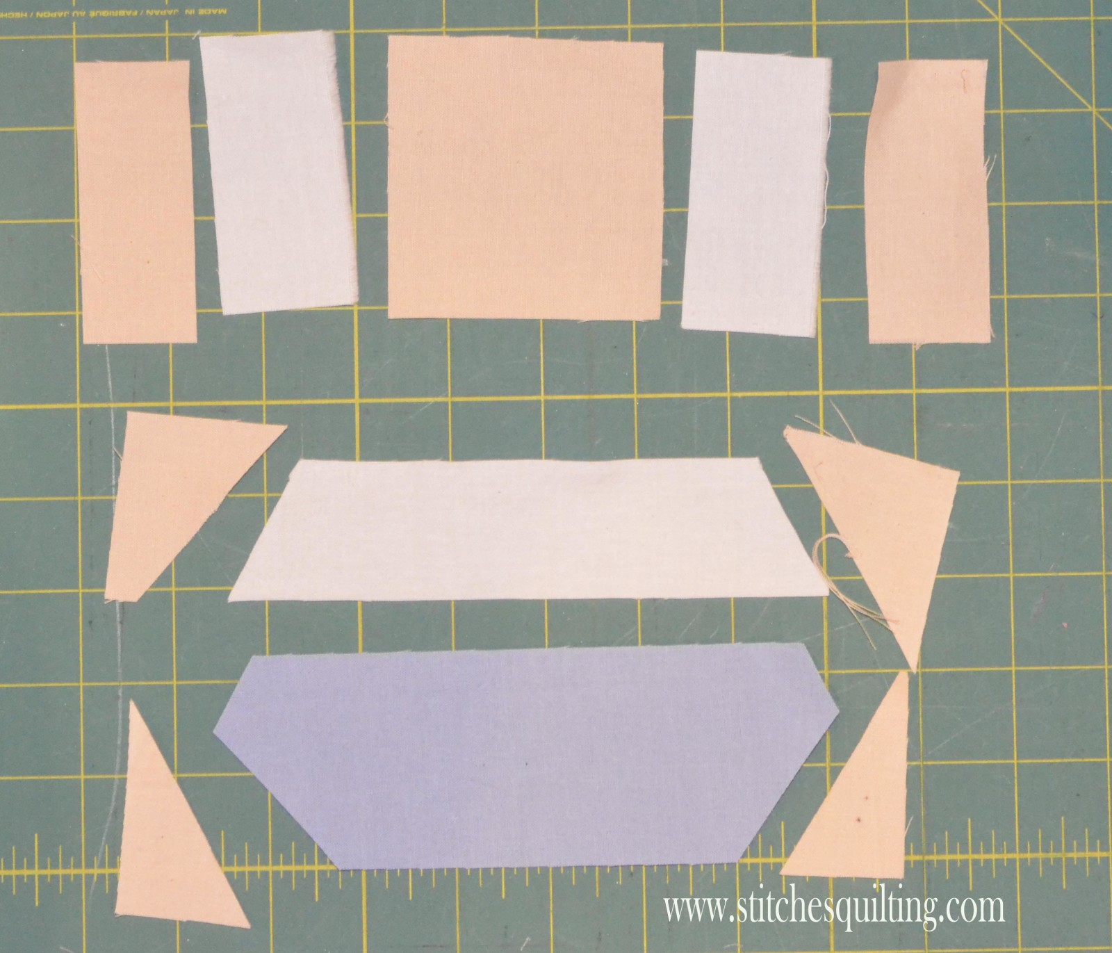 Vintage Womens Bodice Straps Ready to Piece Quilt Block