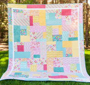 What a sweet darling quilt made out of Fancy Free Summer Bike Fabric to enjoy with loved ones!