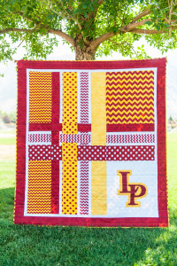 Excellent Quilt to make to celebrate School Colors