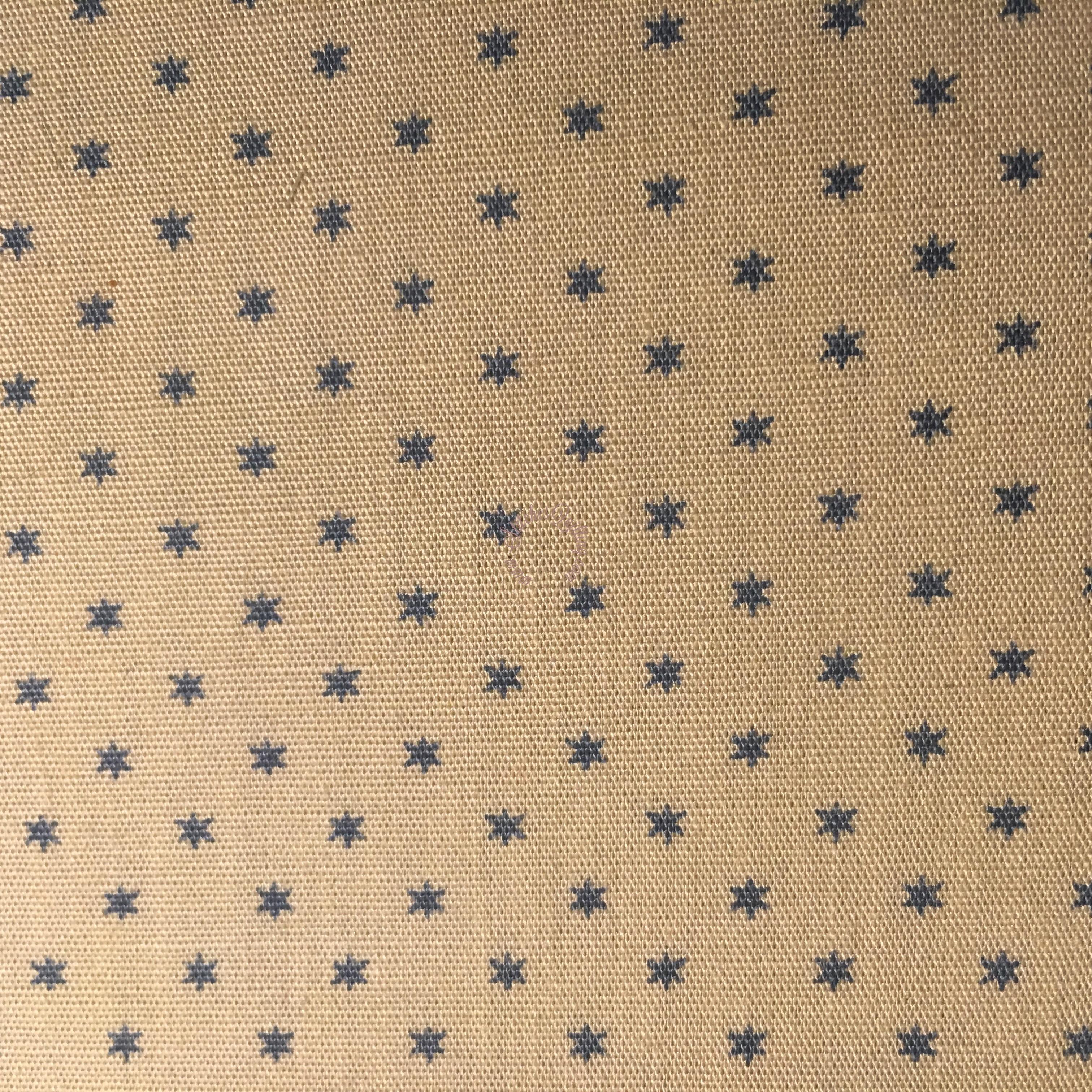 Moda Vintage Workshop Tiny Blue Stars Cream Fabric Indygo