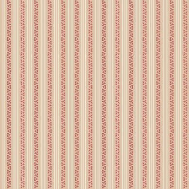Raspberry Parlour C4056 Cream Parlour Stripe Fabric Designed By Sue Daley for Riley Blake Designs
