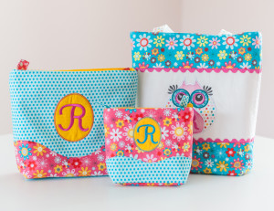 Notice those simple ric rac embellished and embroidered tote bags with Sew Michelle Patterns