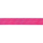 Hot Pink Gingham Grosgrain 5/8 Inch Wide Ribbon