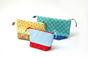 Calico Days Fabric by Lori Holt Darling Classic Zippered Bags Collection