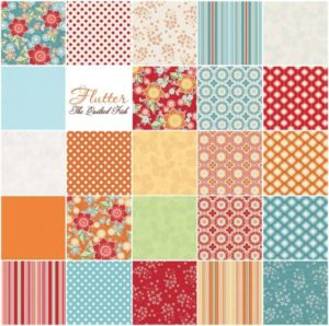 Flutter Fabric Fabric Collection by The Quilted Fish for Riley Blake