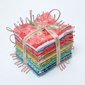 Calico Days by Lori Holt Fat Quarter Bundle for the Bloom Quilt Kit free Bloom Quilt Pattern with purchase.
