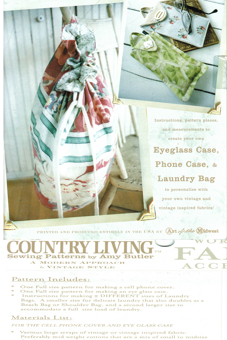 Need to make this! Amy Butler Beach Bag Laundry Bag Eyeglass and Cell Phone Case Patterns