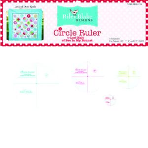 Lori Holt Circle Ruler Set Bee of My Bonnet