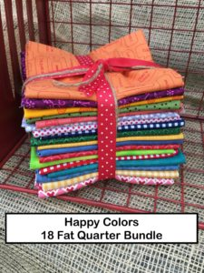 Happy Colors 18 Fat Quarter Bundle for Lori of Bee In My Bonnet Books Farm Girl Vintage Quilty Fun