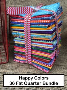Happy Colors 36 Fat Quarter Bundle for Lori of Bee In My Bonnet Books Farm Girl Vintage Quilty Fun
