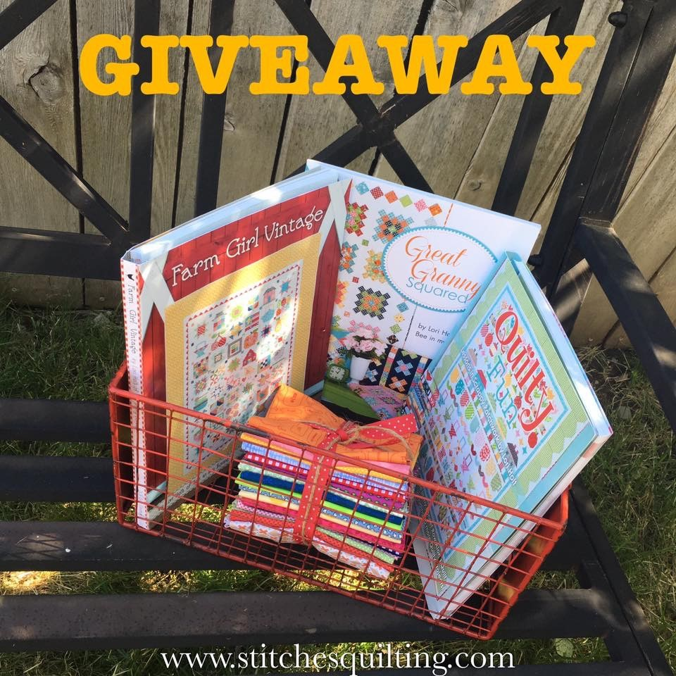 Giveaway Lori Holt Signed Quilt Books Farm Girl Vintage Quilty Fun Great Granny Squared Bee In My Bonnet