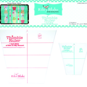 Thimble Ruler Set 10 Inch 5 Inch Lori Holt Bee In My Bonnet