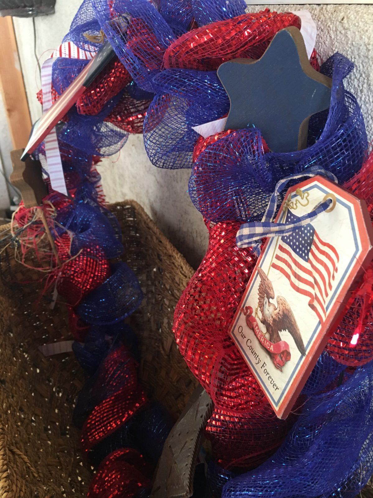 Patriotic Wreath with Vintage Images