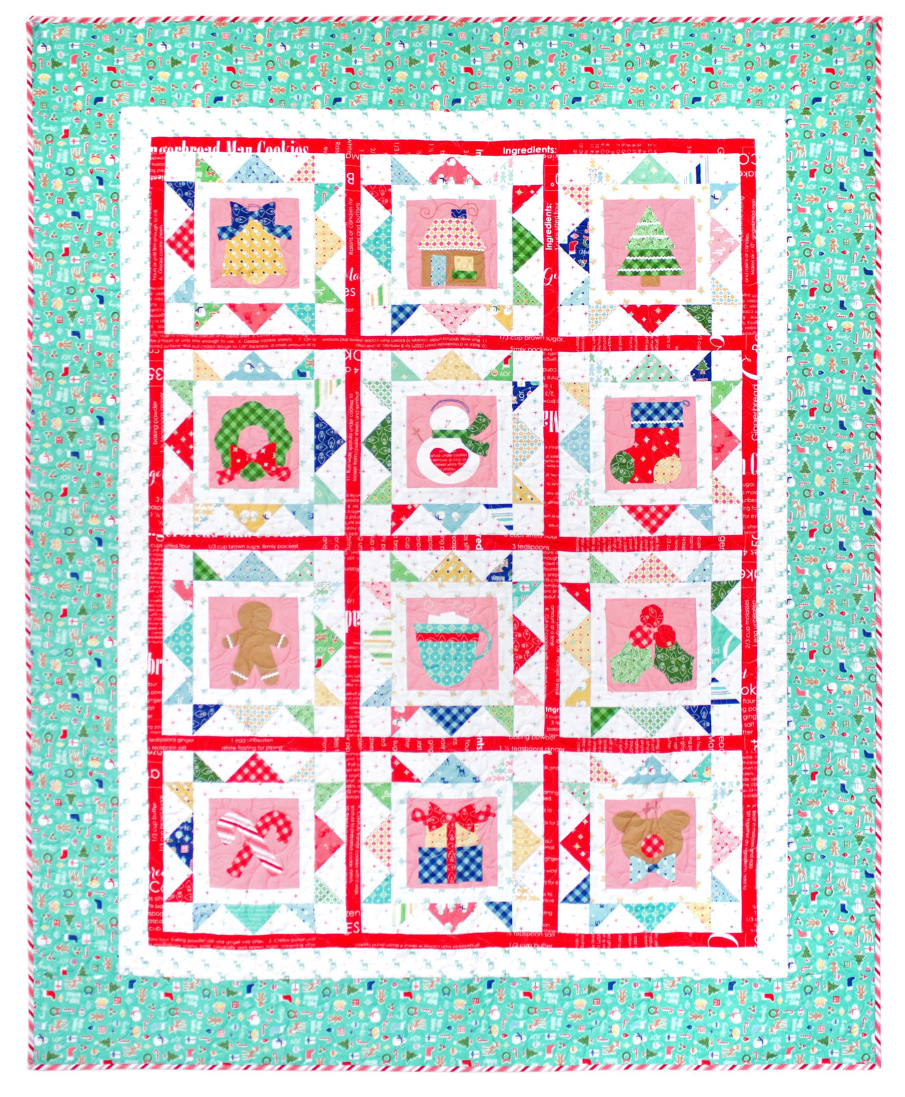 Cozy Christmas Sew Along Free Quilt Pattern with Lori Holt of Bee In My Bonnet
