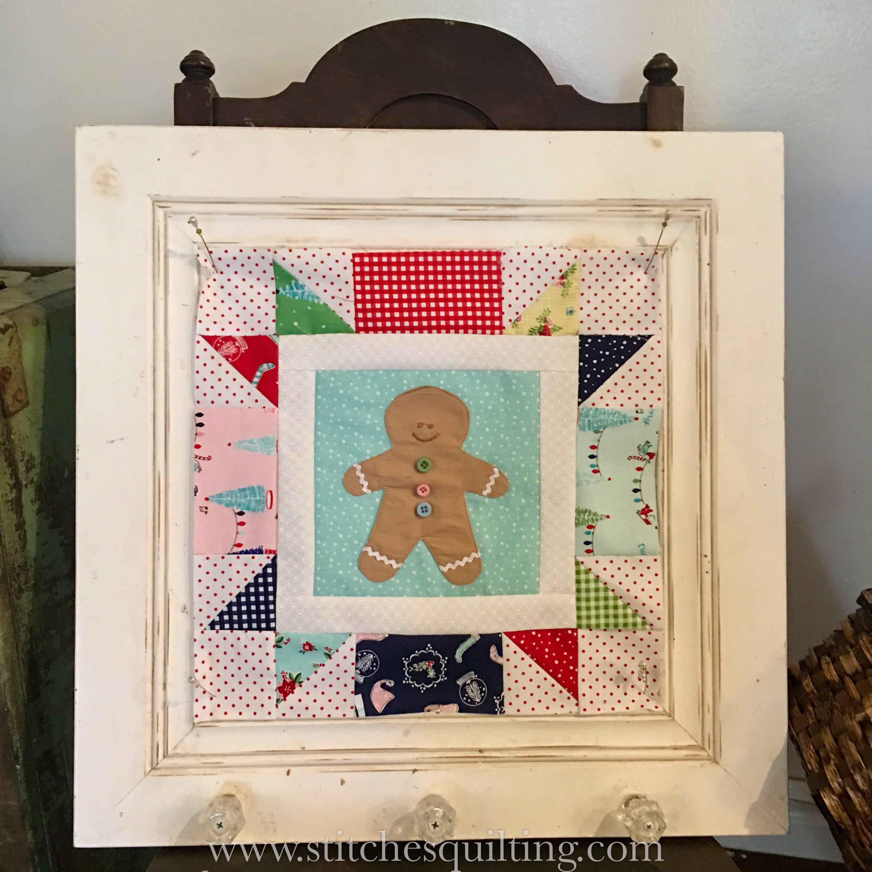 Cozy Christmas-Gingerbread Man Finished Block