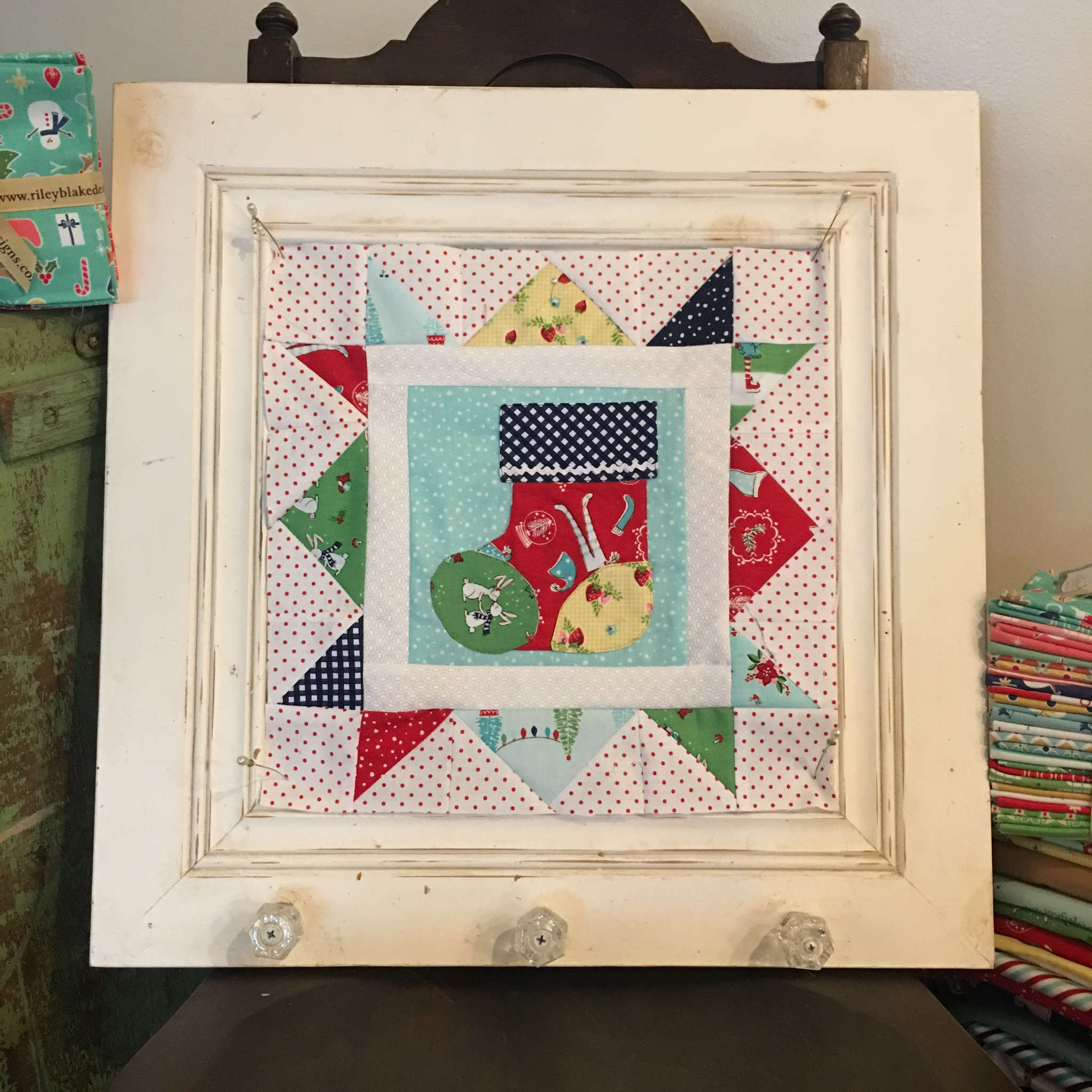 Cozy Christmas Stocking Block Sew Along
