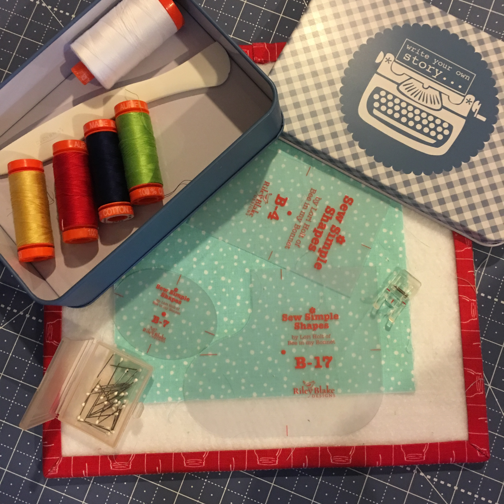 Cozy Christmas Block Preparation Happy Colors Aurifil Thread