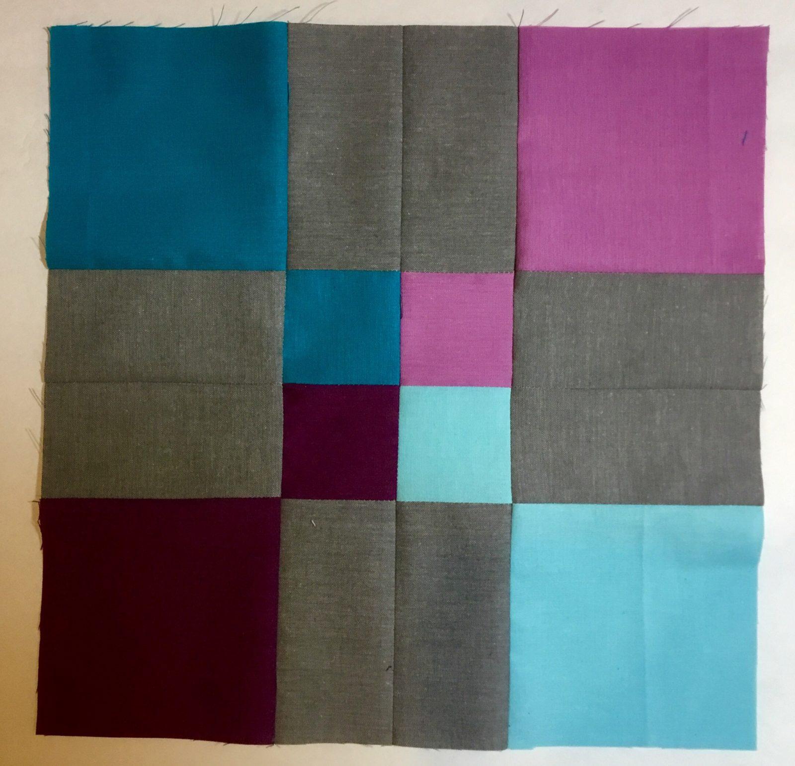 Four Square in a Nine Path Modern Block Cloud9 Cirrus Solids