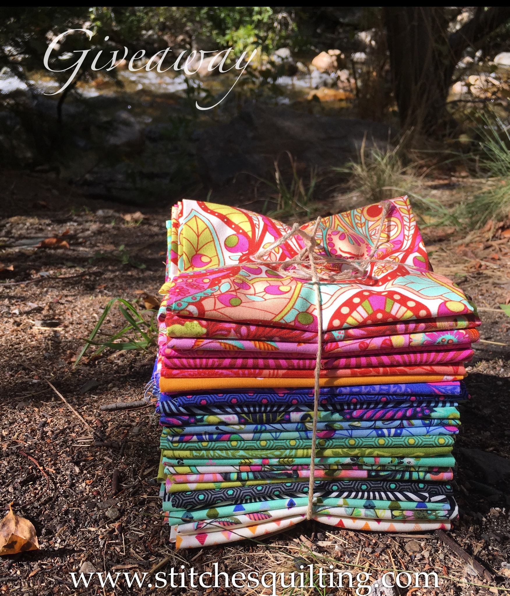 Tula Pink Slow and Steady Fat Quarter Giveaway