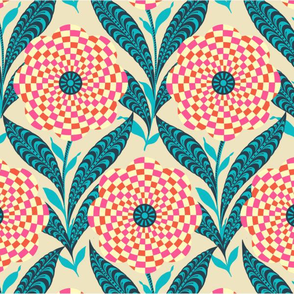 Amy Butler Eternal Sunshine Checkered Zebra Floral Elements Linen PWAB161