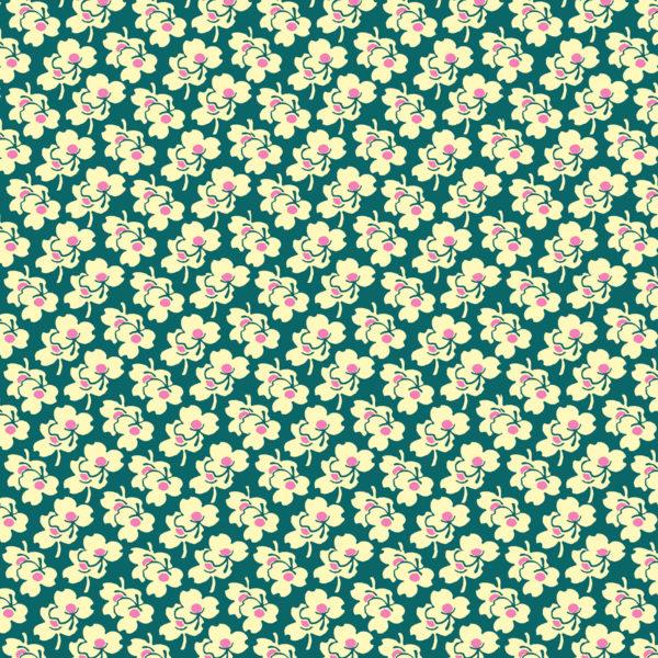 Amy Butler Eternal Sunshine Fabric PWAB1663 Pansies Ivory