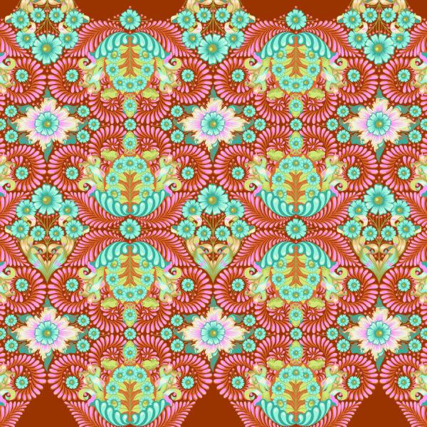 The Tortoise Orange Crush Tula Pink Slow and Steady Free Spirit Fabrics PWTP085