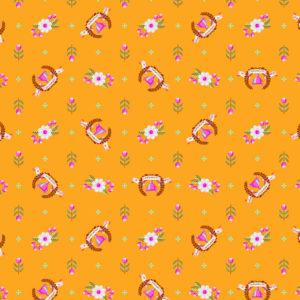 Winners Circle Orange Crush Tula Pink Slow and Steady Free Spirit Fabrics PWTP089