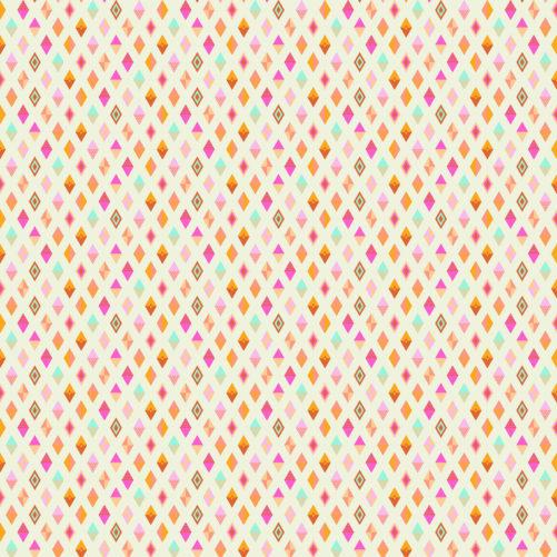 Track Flags Orange Crush Tula Pink Slow and Steady Free Spirit Fabrics PWTP090