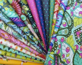 Tula Pink Fabric Slow & Steady Full Yard Bundle • Stitches Quilting : quilt fabric bundles - Adamdwight.com